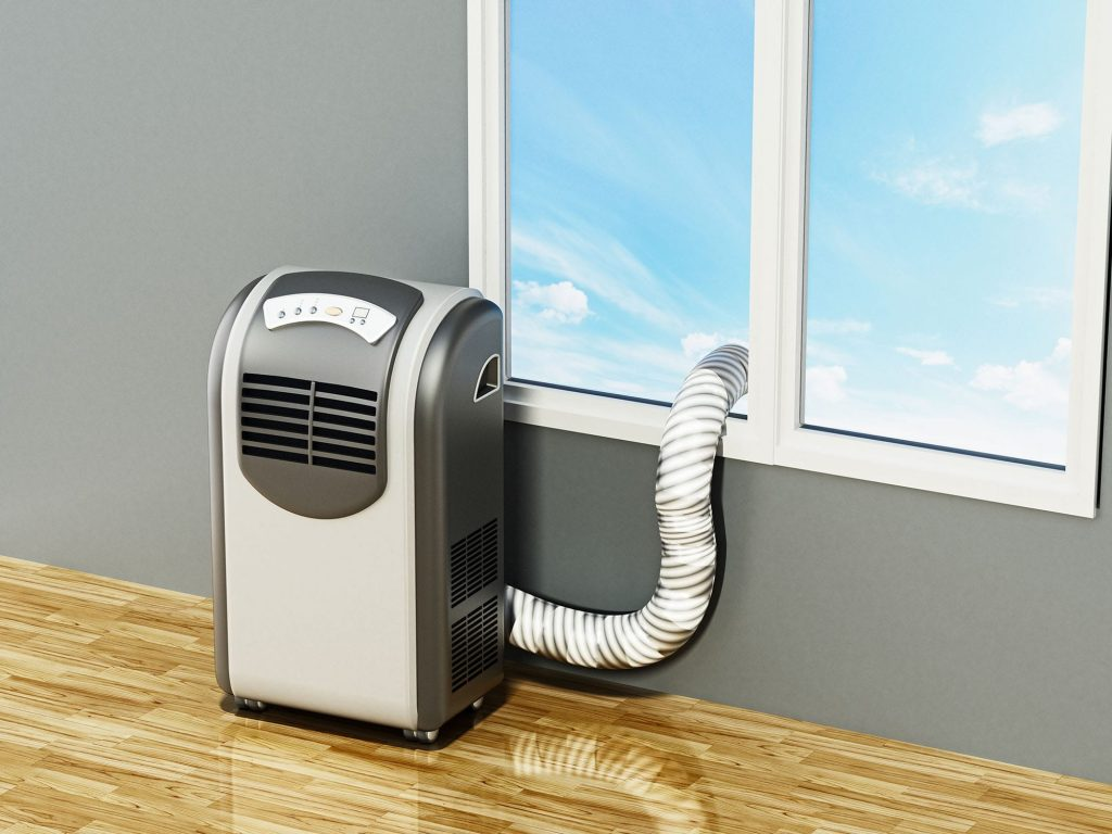 Portable air conditioners can vent right out a window